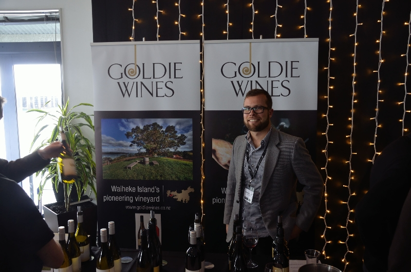 Goldie stand at the 2012 Wine Expo