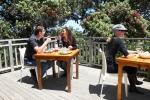 Kennedy Point wine tasting on deck