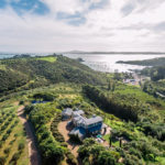 Aerial view of Cable Bay Villa